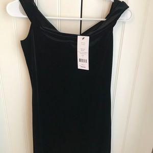 French Connection velvet body-con dress